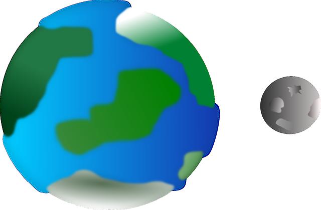地球と水星大きさ比較