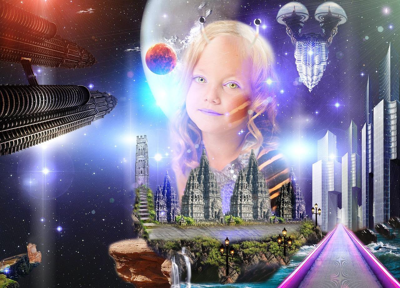 系外惑星の様子と宇宙人の女の子