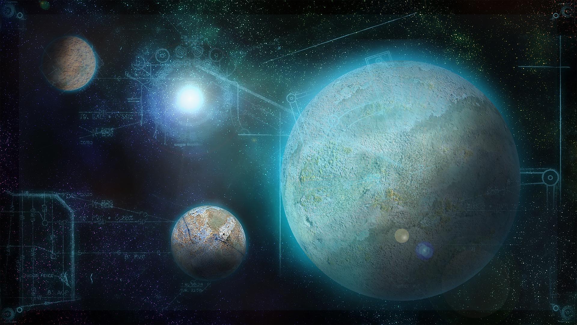 未来感あふれる3つの惑星
