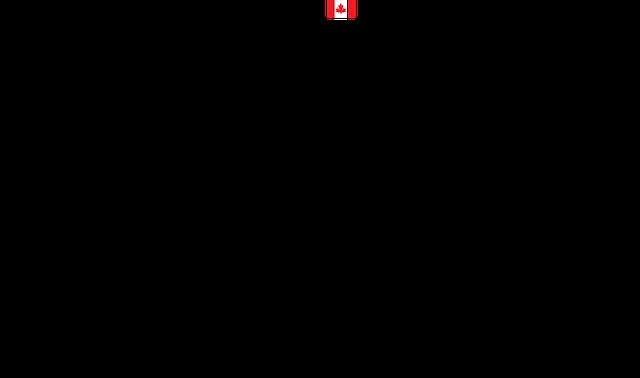 カナダの国旗と建物
