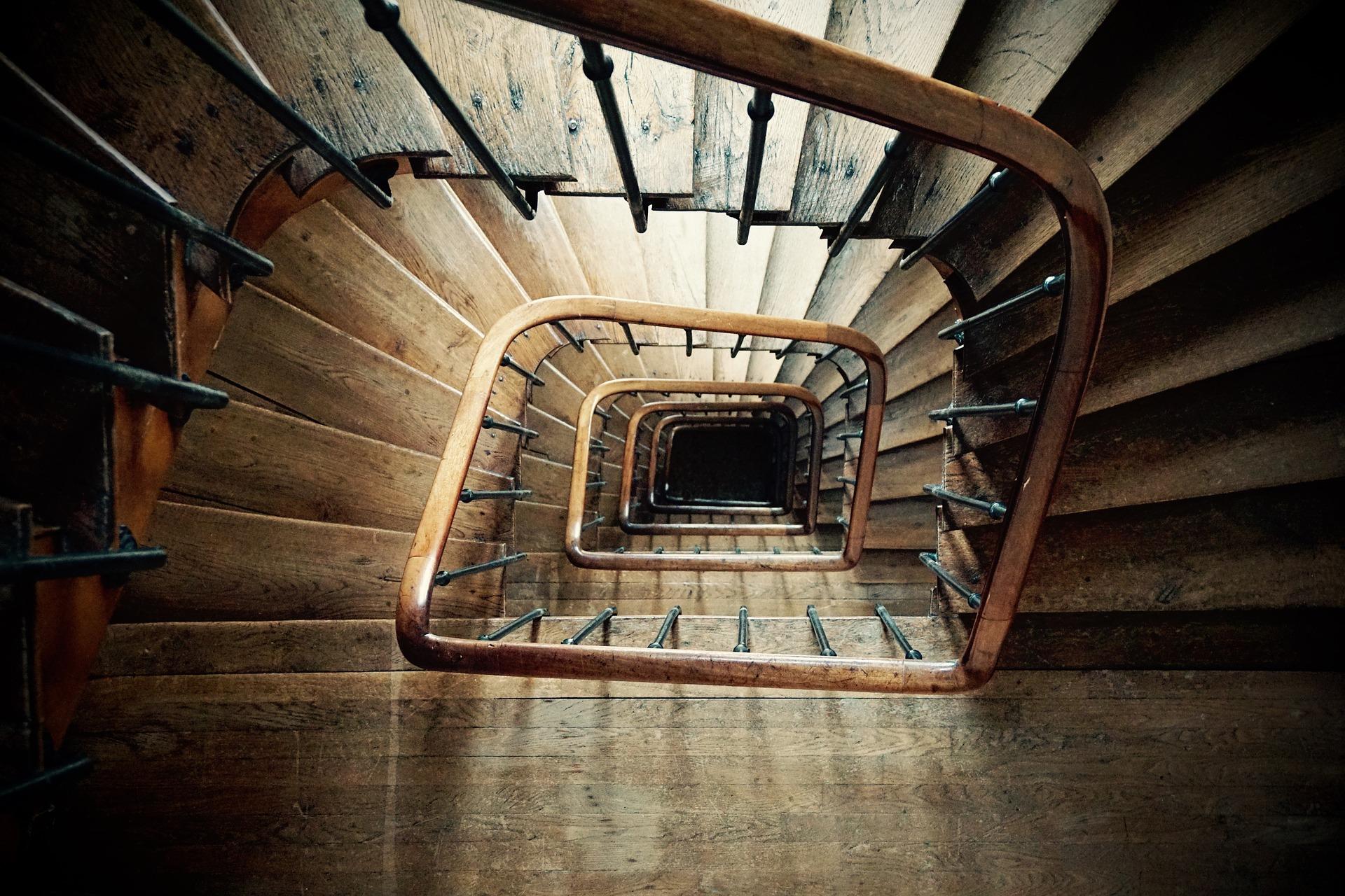 奥が深い階段
