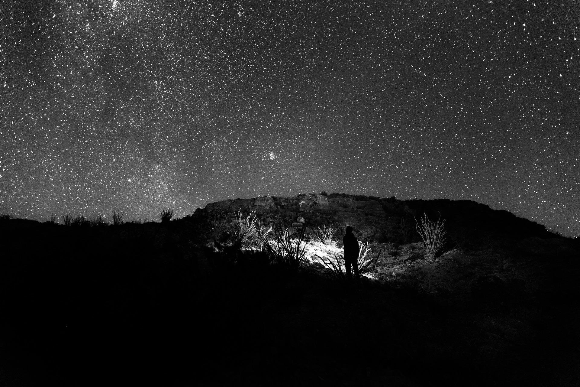綺麗な星空と世界