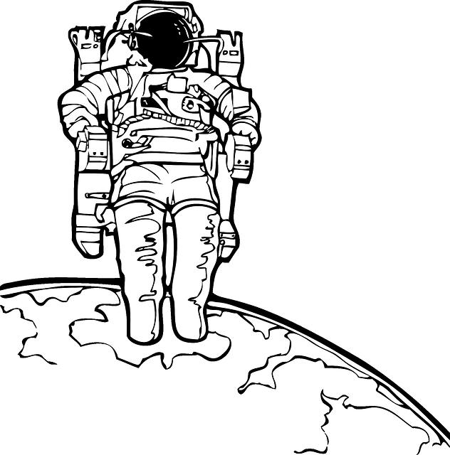宇宙飛行士と地球